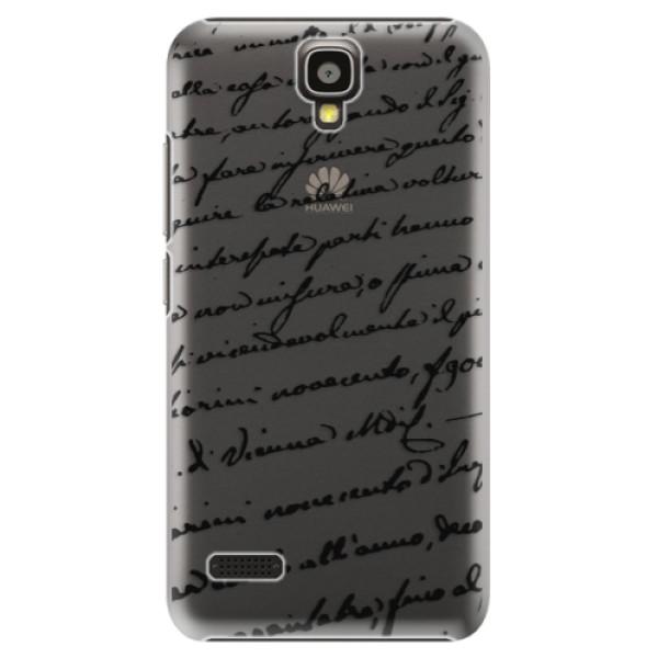 Plastové puzdro iSaprio - Handwriting 01 - black - Huawei Ascend Y5