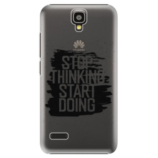 Plastové puzdro iSaprio - Start Doing - black - Huawei Ascend Y5