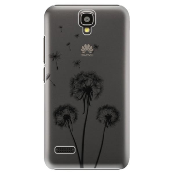 Plastové puzdro iSaprio - Three Dandelions - black - Huawei Ascend Y5