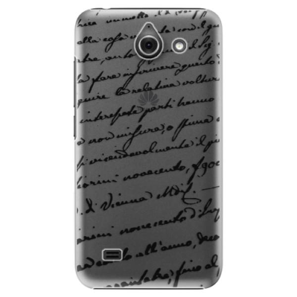 Plastové puzdro iSaprio - Handwriting 01 - black - Huawei Ascend Y550
