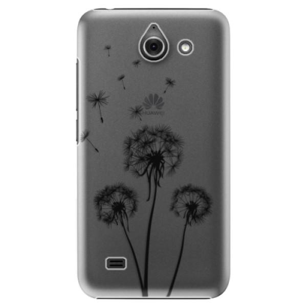 Plastové puzdro iSaprio - Three Dandelions - black - Huawei Ascend Y550