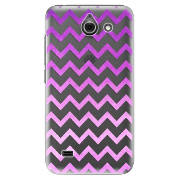 Plastové puzdro iSaprio - Zigzag - purple - Huawei Ascend Y550