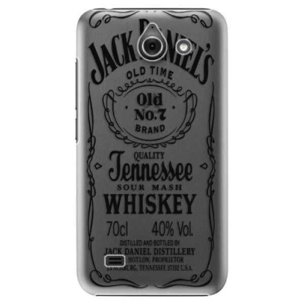 Plastové puzdro iSaprio - Transparent Black Jack - Huawei Ascend Y550