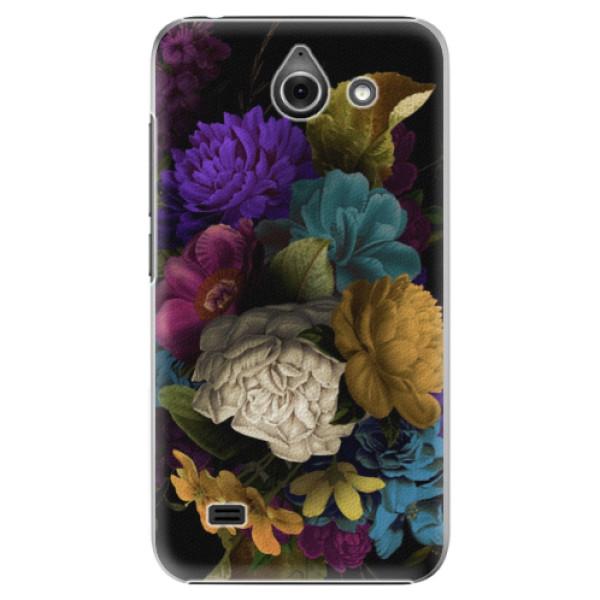 Plastové puzdro iSaprio - Dark Flowers - Huawei Ascend Y550