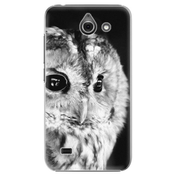 Plastové puzdro iSaprio - BW Owl - Huawei Ascend Y550