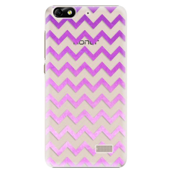 Plastové puzdro iSaprio - Zigzag - purple - Huawei Honor 4C