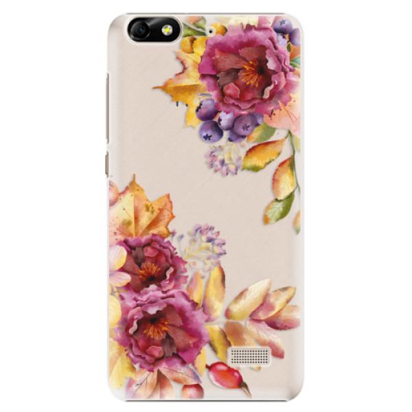 Plastové puzdro iSaprio - Fall Flowers - Huawei Honor 4C