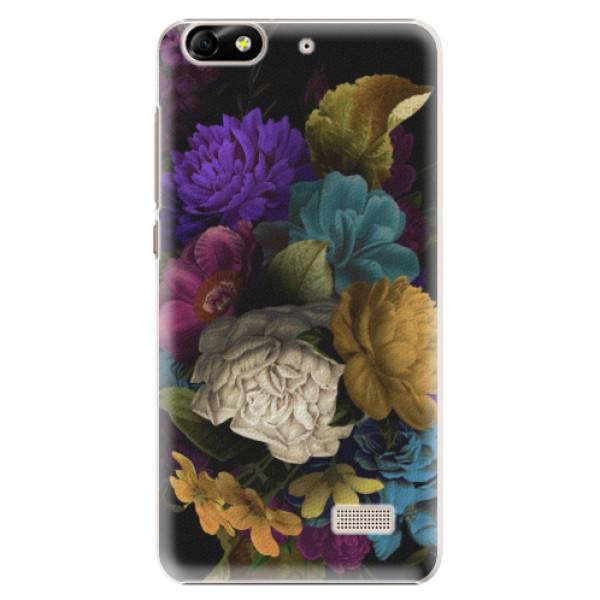 Plastové puzdro iSaprio - Dark Flowers - Huawei Honor 4C