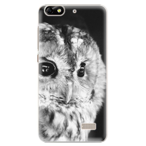Plastové puzdro iSaprio - BW Owl - Huawei Honor 4C
