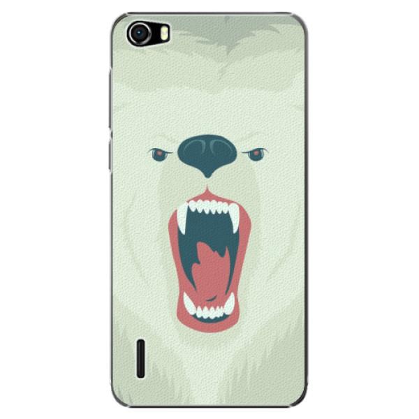 Plastové puzdro iSaprio - Angry Bear - Huawei Honor 6