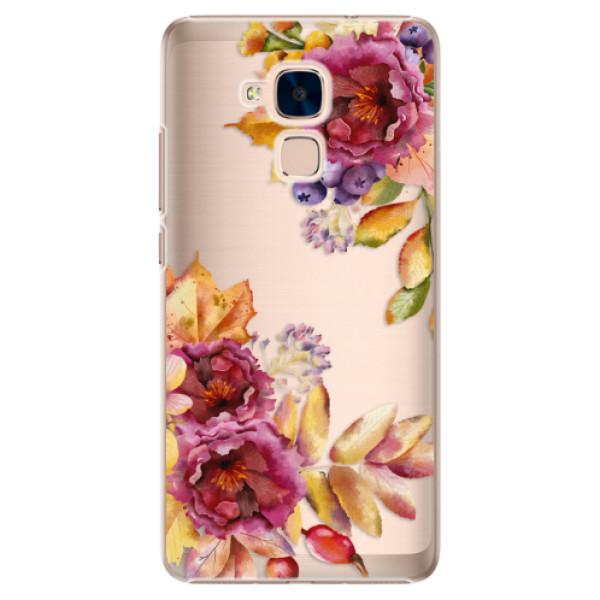 Plastové puzdro iSaprio - Fall Flowers - Huawei Honor 7 Lite