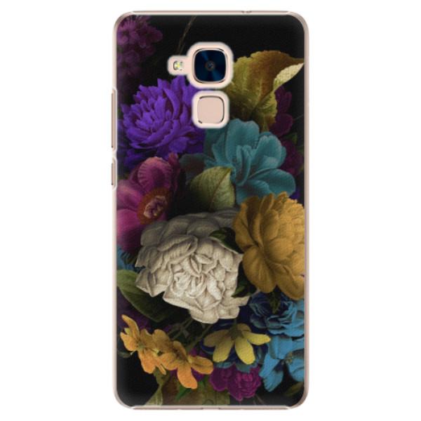 Plastové puzdro iSaprio - Dark Flowers - Huawei Honor 7 Lite
