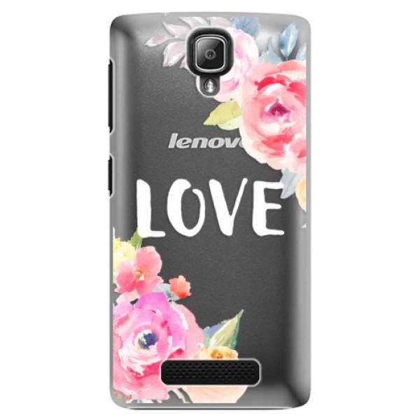 Plastové puzdro iSaprio - Love - Lenovo A1000