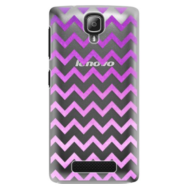 Plastové puzdro iSaprio - Zigzag - purple - Lenovo A1000