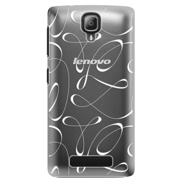 Plastové puzdro iSaprio - Fancy - white - Lenovo A1000