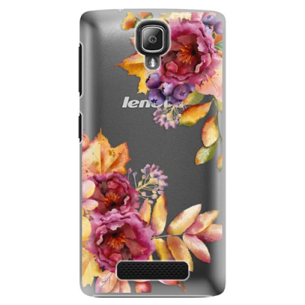 Plastové puzdro iSaprio - Fall Flowers - Lenovo A1000