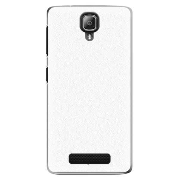 Plastové puzdro iSaprio - 4Pure - bílý - Lenovo A1000