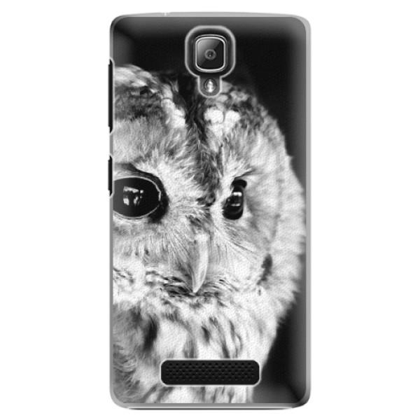 Plastové puzdro iSaprio - BW Owl - Lenovo A1000
