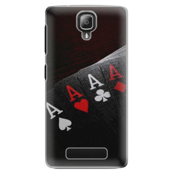Plastové puzdro iSaprio - Poker - Lenovo A1000