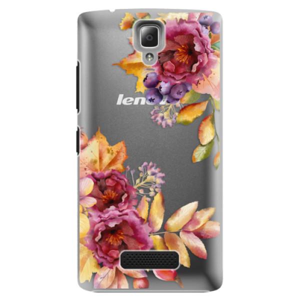 Plastové puzdro iSaprio - Fall Flowers - Lenovo A2010