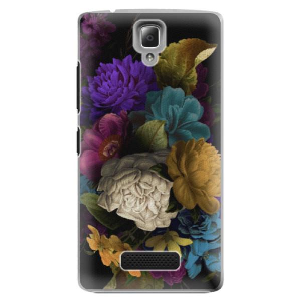 Plastové puzdro iSaprio - Dark Flowers - Lenovo A2010