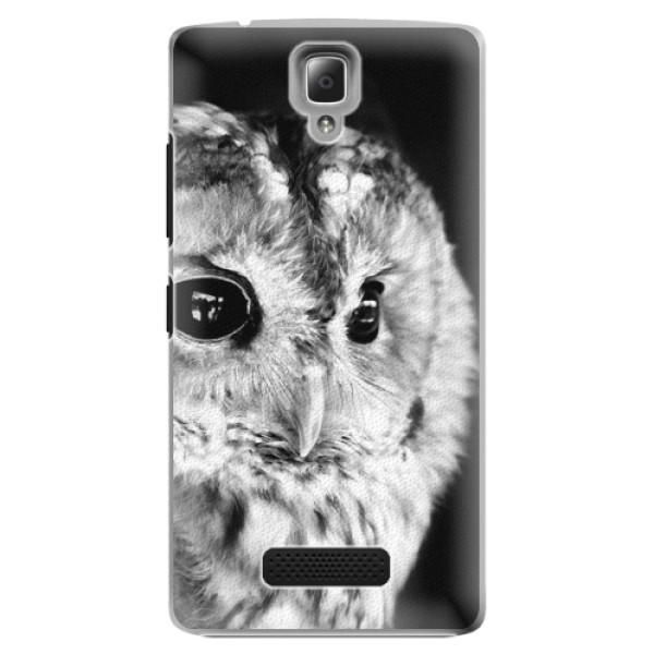 Plastové puzdro iSaprio - BW Owl - Lenovo A2010