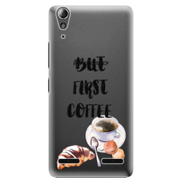 Plastové puzdro iSaprio - First Coffee - Lenovo A6000 / K3