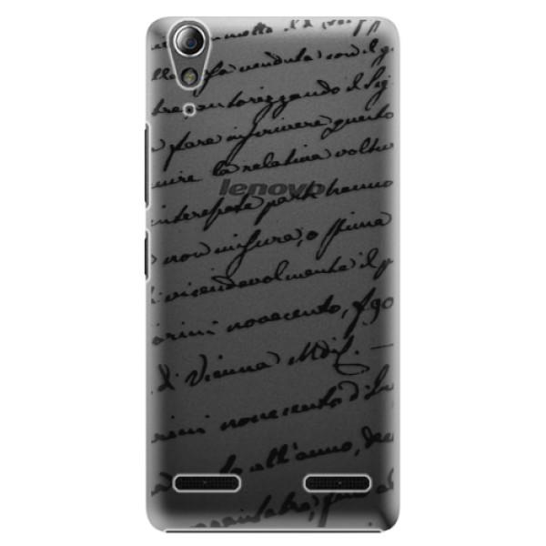 Plastové puzdro iSaprio - Handwriting 01 - black - Lenovo A6000 / K3