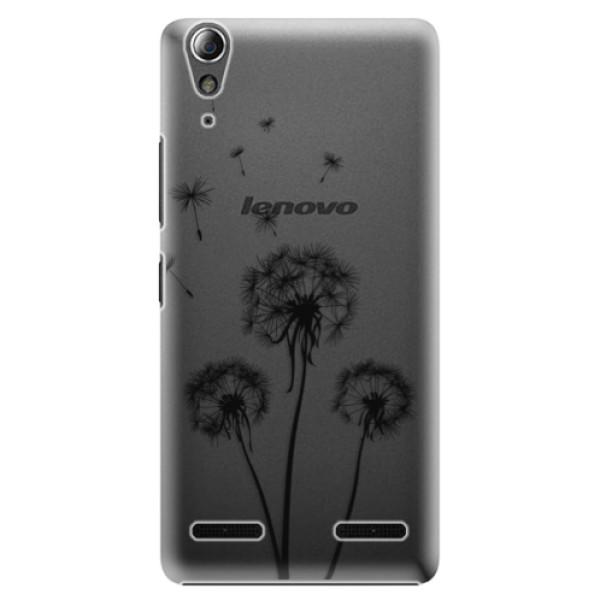 Plastové puzdro iSaprio - Three Dandelions - black - Lenovo A6000 / K3