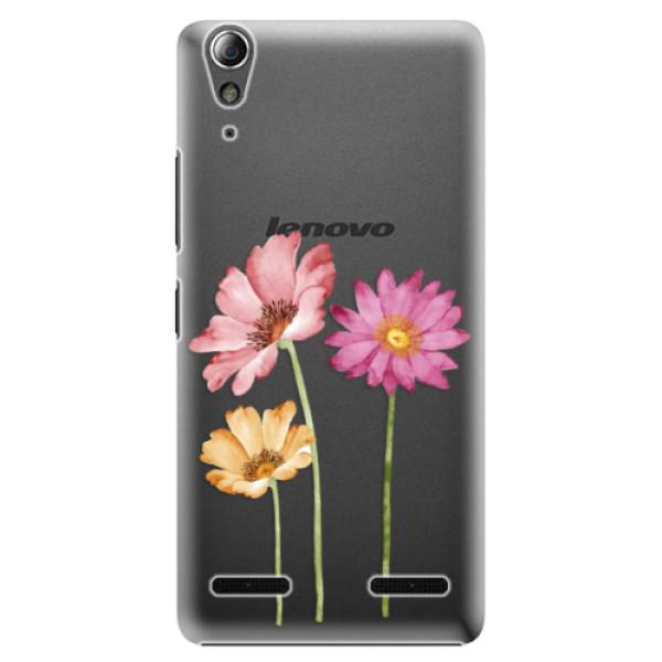 Plastové puzdro iSaprio - Three Flowers - Lenovo A6000 / K3