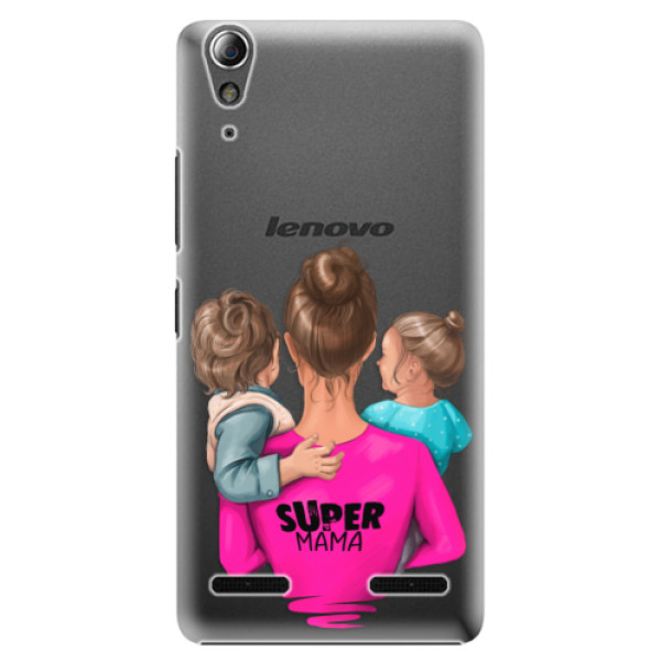 Plastové puzdro iSaprio - Super Mama - Boy and Girl - Lenovo A6000 / K3