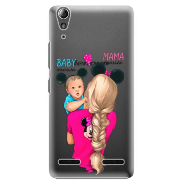 Plastové puzdro iSaprio - Mama Mouse Blonde and Boy - Lenovo A6000 / K3