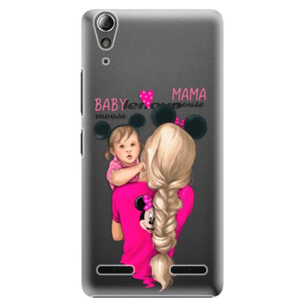 Plastové puzdro iSaprio - Mama Mouse Blond and Girl - Lenovo A6000 / K3