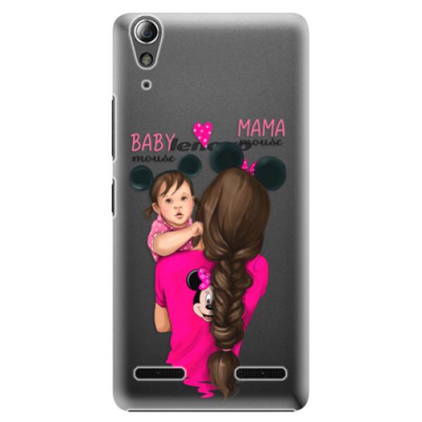 Plastové puzdro iSaprio - Mama Mouse Brunette and Girl - Lenovo A6000 / K3
