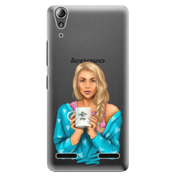Plastové puzdro iSaprio - Coffe Now - Blond - Lenovo A6000 / K3