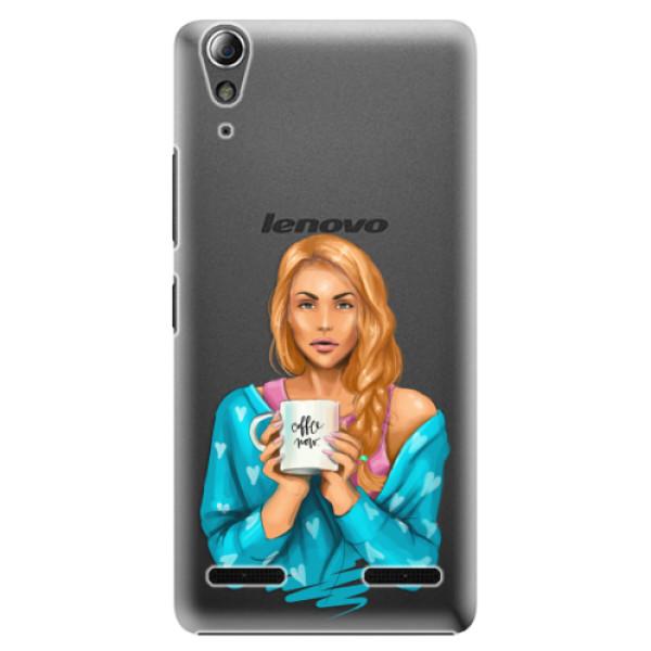 Plastové puzdro iSaprio - Coffe Now - Redhead - Lenovo A6000 / K3