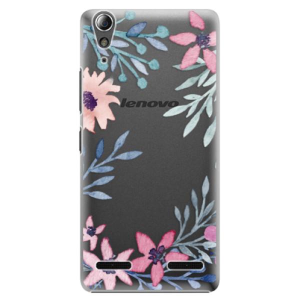 Plastové puzdro iSaprio - Leaves and Flowers - Lenovo A6000 / K3