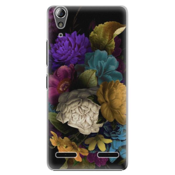 Plastové puzdro iSaprio - Dark Flowers - Lenovo A6000 / K3