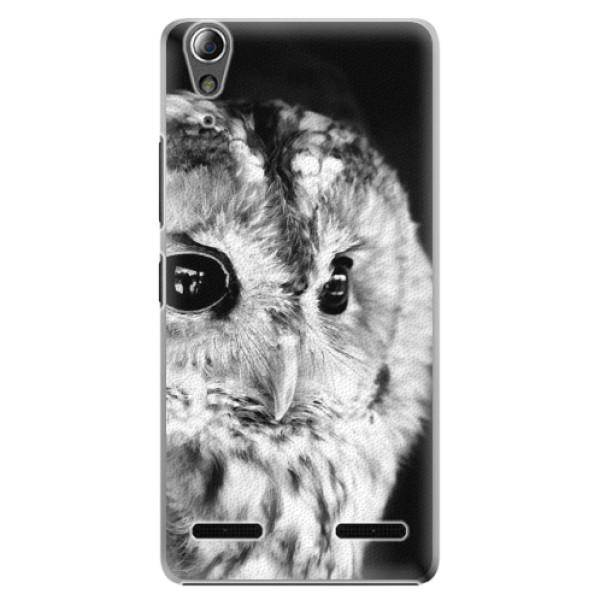 Plastové puzdro iSaprio - BW Owl - Lenovo A6000 / K3