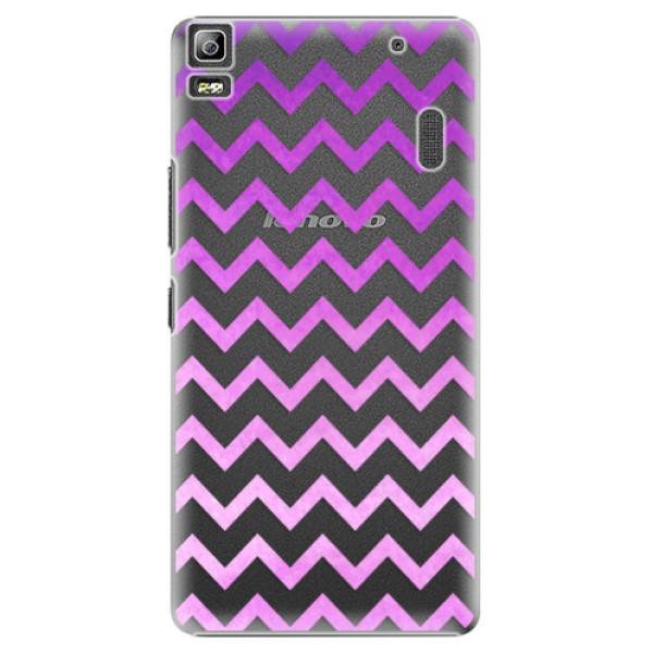 Plastové puzdro iSaprio - Zigzag - purple - Lenovo A7000
