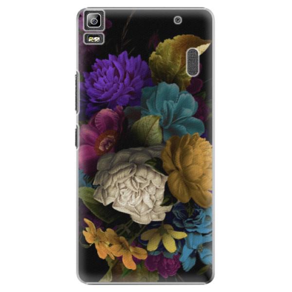 Plastové puzdro iSaprio - Dark Flowers - Lenovo A7000