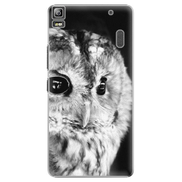 Plastové puzdro iSaprio - BW Owl - Lenovo A7000