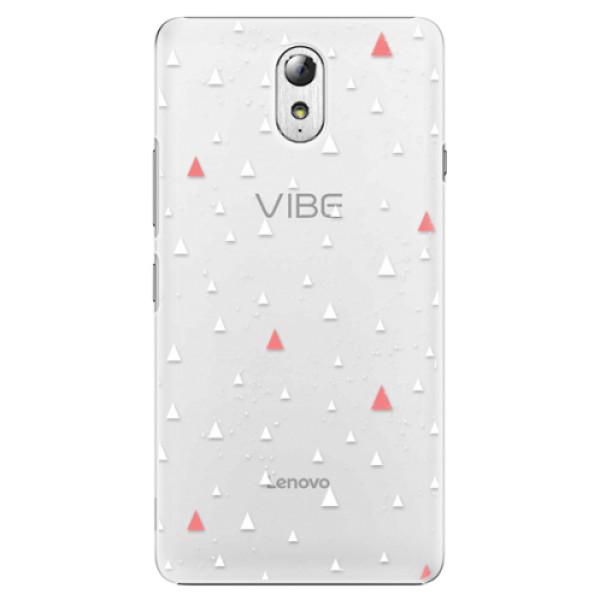 Plastové puzdro iSaprio - Abstract Triangles 02 - white - Lenovo P1m