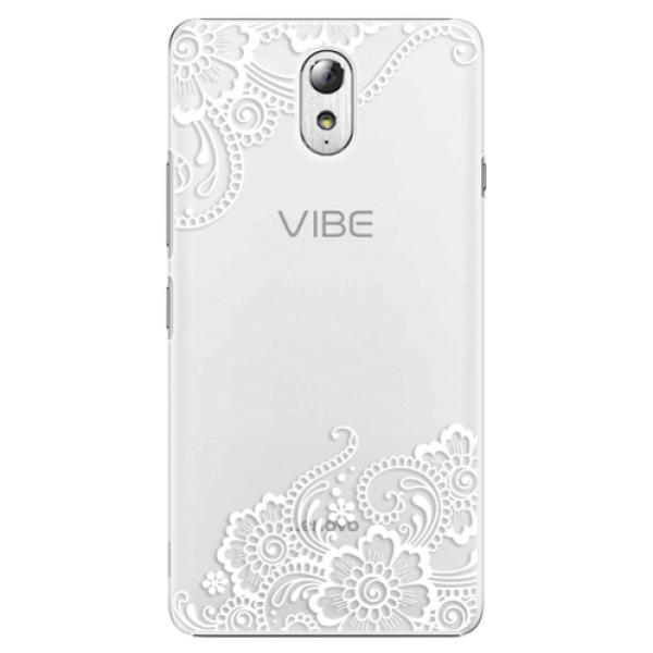 Plastové puzdro iSaprio - White Lace 02 - Lenovo P1m