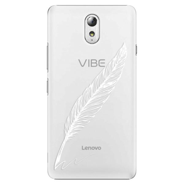 Plastové puzdro iSaprio - Writing By Feather - white - Lenovo P1m