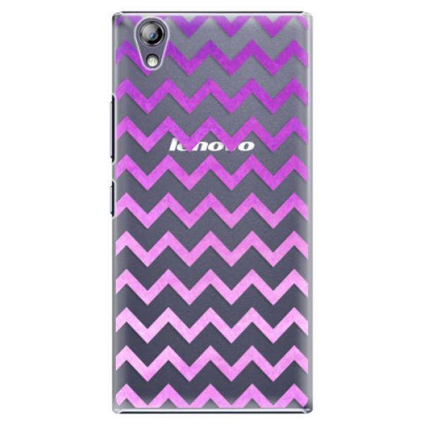 Plastové puzdro iSaprio - Zigzag - purple - Lenovo P70