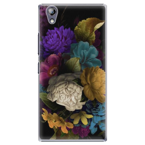 Plastové puzdro iSaprio - Dark Flowers - Lenovo P70