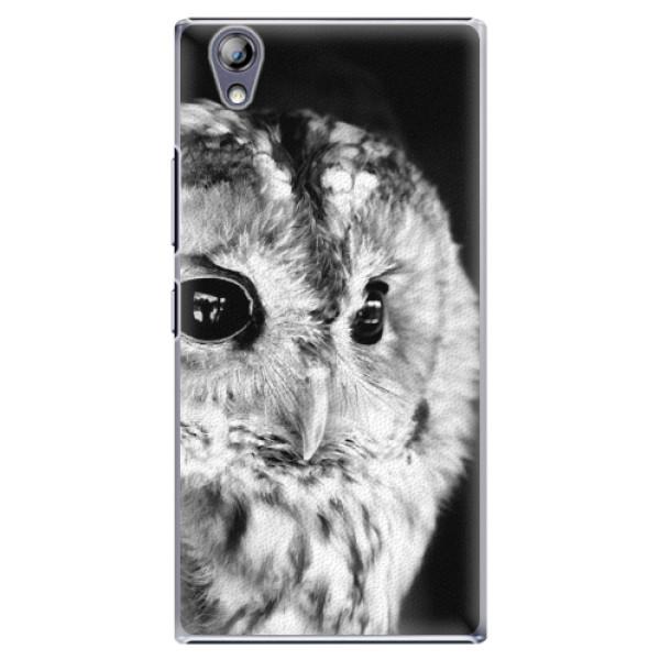 Plastové puzdro iSaprio - BW Owl - Lenovo P70