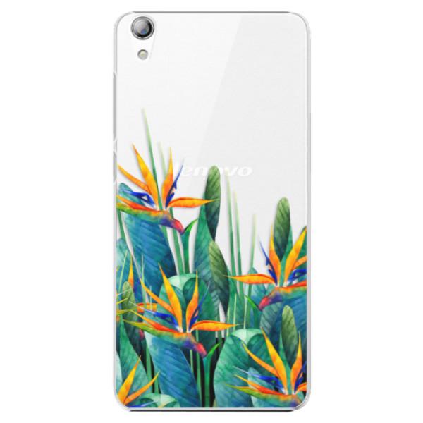 Plastové puzdro iSaprio - Exotic Flowers - Lenovo S850