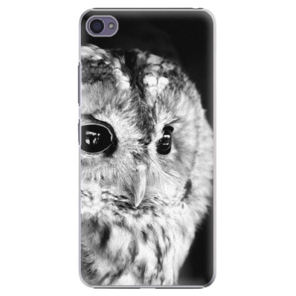 Plastové puzdro iSaprio - BW Owl - Lenovo S90